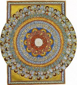 ALL BEINGS CELEBRATE CREATION Second Vision of the Second Part of De Operatione Dei (or Liber Divinorum Operum) by Hildegard of Bingen.